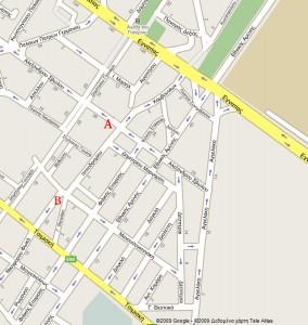 Χριστιανική Φοιτητική Δράση Θεσσαλονίκης - Χάρτης